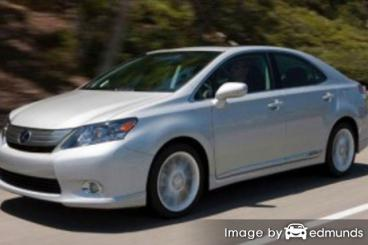 Insurance rates Lexus HS 250h in Oakland