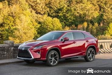 Insurance rates Lexus RX 450h in Oakland
