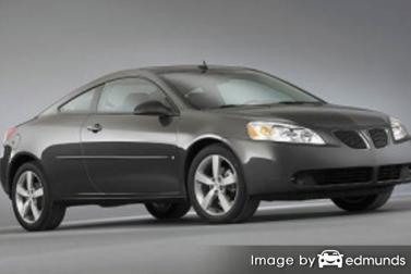Insurance rates Pontiac G6 in Oakland